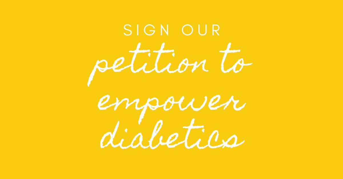 sign our diabetes petition