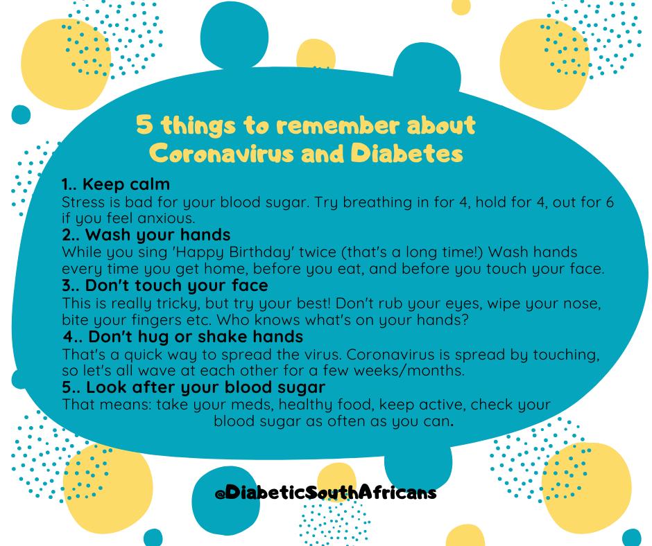 coronavirus diabetes tips